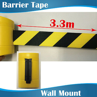 3.3m Yellow Retractable Barrier Tape/crow control barriers/wall mount barrier