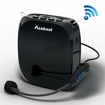 Acekool Portable Wireless Voice Amplifier Microphone MP3 Player/U Disk/TF