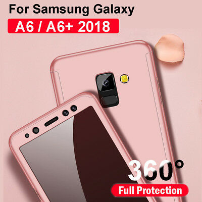 For Samsung Galaxy A6 Plus 2018 360° Cover PC + Tempered Glass Shockproof Case
