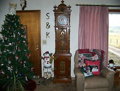 vintage 1901 grandfather clock maker grand father 8 day rare!