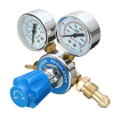 Brass Torch Cutting Argon Oxygen Acetylene Gas Regulator Pressure Flow Meter