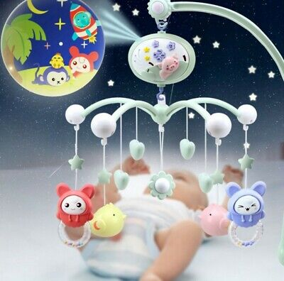 Mobile Music Box Holder Baby Crib Bed Bell Children Infants Toy with Remote USA
