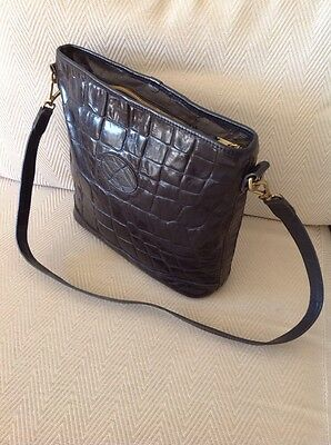 Mulberry Vintage Shoulder Bag In Black Congo Leather. Very Good Condition 98860f21b3aa1