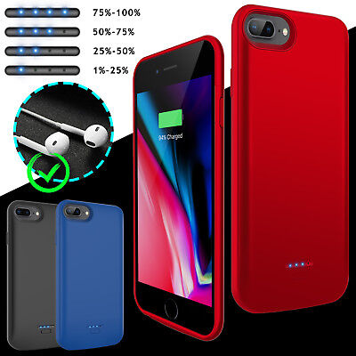 Portable Battery Case Wireless Charger External Power Bank Charging Slim Cover