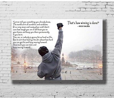24x36 14x21 Poster Rocky Balboa Motivational Quote Sylvester Stallone Art P-1352