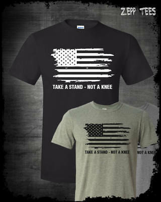 Stand For The Anthem T-Shirt I Don't Kneel NFL Boycott American Flag Patriotic