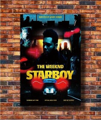 Art The Weeknd Starboy Daft Punk Rap -20x30 24x36in Poster - Hot Gift C3063