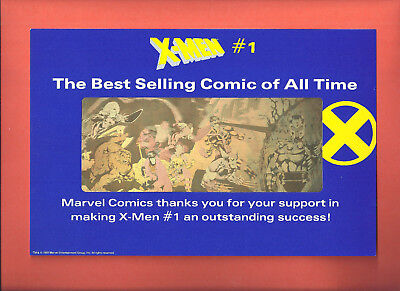 Comic Store Promo X-Men #1 Gold Hologram Thank You For Making It Best Selling