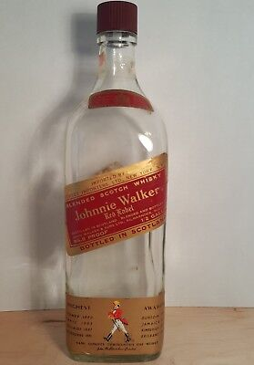 "Vintage Johnnie Johnny Walker Red Label Bottle ""Scotland British Supervision"""