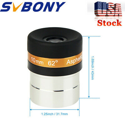 "SVBONY 1.25"" 10mm Zoom 31.7mm Eyepiece Lens Fully Coated for Telescope US STOCK"