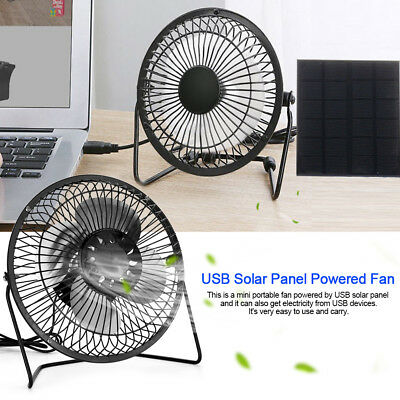USB Solar Panel 6'' Fan Flexible Panel Greenhouse Chick House Ventilator US