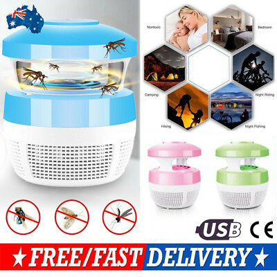 Electric USB LED Light Mosquito Killer Fly Bug Insect Zapper Trap Catcher Lamp