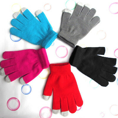 Mens Women Thermal Insulation Screen Sensor Winter Warm Gloves For Smartphone