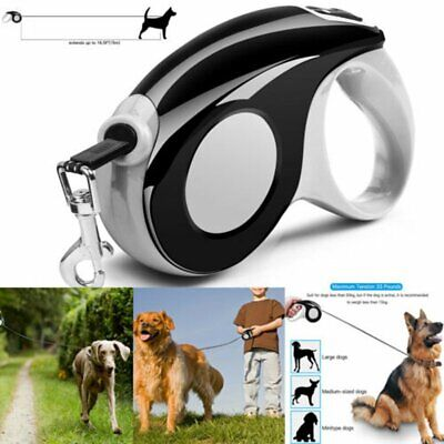 Automatic Retractable Dog Leash Pet Collar Medium Large Dogs up to 33 lbs US