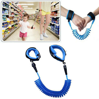 01D9 Adjustable Children Kids Safety Leash Anti Lost Wristbands Harness Strap Bl