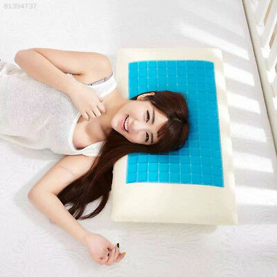7AB0 Memory Foam White Pillow Cushion Cooling Comfort Gel Cervical Vertebra