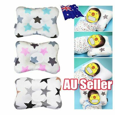 Baby Infant Newborn Prevent Flat Head Neck Support Positioner Square Pillow MN