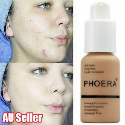 Coverage Concealer Cosmetic Longlasting Moisturizing PHOERA Liquid Foundation AU