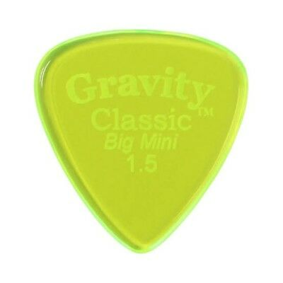 GRAVITY PICKS Classic Big Mini 1.5mm Polished Fluro Green