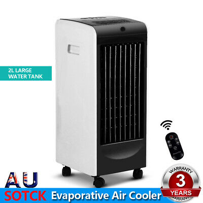 Devanti Portable Evaporative Air Cooler Remote Control Humidifier Conditioner