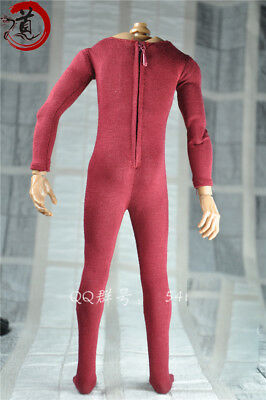 """1/6th Scale Red Elastic bodysuit Model FOR 12"""" Male Figure Body Doll TOYS"""