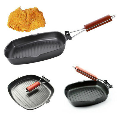 Black Heat Resistant Non-stick Frying Pan Round Mat For Barbecue Cooking L0Pb