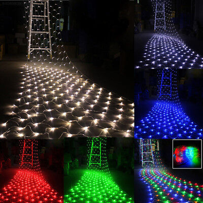 3m LED String Fairy Lights Net Mesh Curtain Xmas Wedding Party Outdoor Indoor