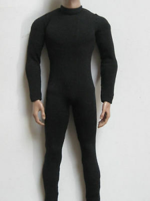 """1:6th Scale 12"""" figures Doll Toy Accessory Black Elastic bodysuit For Male Body"""