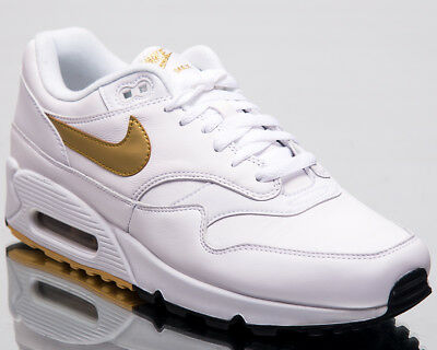 huge discount e6193 df893 Nike Air Max 90 1 Men Lifestyle Shoes White Metallic Gold Black AJ7695-102