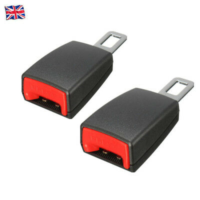 2PCS Universal Car Safety Seat Belt Extender Extension Buckle Lock Clip UK