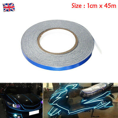 1cm x 45m DIY Self Adhesive Decal Reflective Sticker Tape Car Truck Body Stripe
