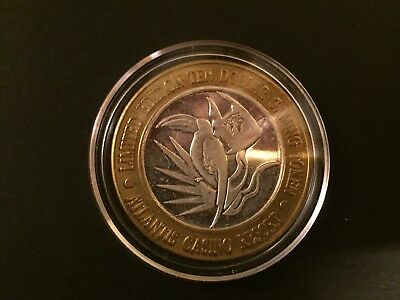 Limited Edition Silver .999 Atlantis Casino Token/Coin