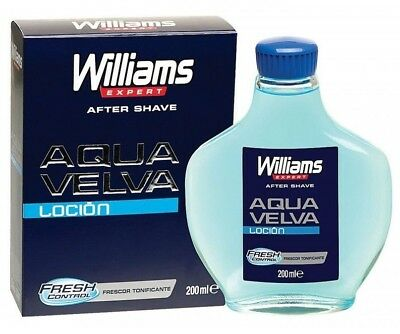 WILLIAMS AQUA VELVA Aftershave Lotion 200ml 6.7oz Classic Shave Fresh BIG BOTTLE