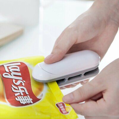 Chip Bag Resealer Portable Mini Package Air Tight Re Sealer Snack Seal Heat DM