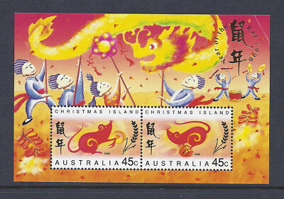 1996 Christmas Island Stamps - Lunar New Year-Year of the Rat - Mini Sheet MUH