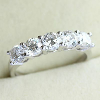 Certified 2.33Ct Round White Diamond Engagement Ring in Solid 14k White Gold