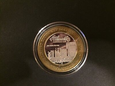 Limited Edition Silver .999 Reno Casino Token/Coin