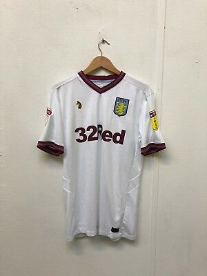 Aston Villa FC Luke Sport 18/19 Men's League Away Shirt - Medium - No Name - New