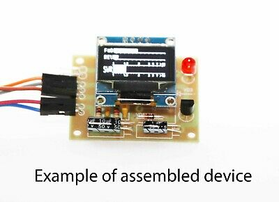 THE DIGITAL MINI S-meter LCD 128x34  Kit for assembly