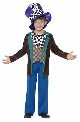 Child Deluxe Mad Hatter Costume Boys Fancy Dress Kids Party Book Week Wonderland