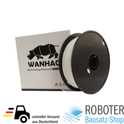 Wanhao PLA Filament Weiß 1.75mm 1kg Spule 3D-Drucker 3D Printer