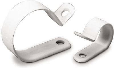 Cable Clamps, White Plastic, 3/4-In. I.D., 6-Pk.