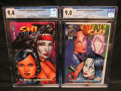 Shi/Cyblade: The Battle for Independents #1 & Variant Cover CGC 9.0, 9.4 CM1154