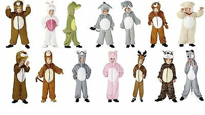 Boy's Girl's Animal Fancy Dress Costume Jumpsuit Kids Party Theme World Book Day