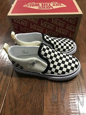 8c97ed52406c67 NEW Toddler Vans Asher V Shoes Checkers Black   Natural Check Size 5 or 9