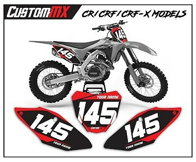 Honda CR/CRF MX NUMBER BOARD GRAPHICS BACKGROUNDS 85 150 125 250 450 500