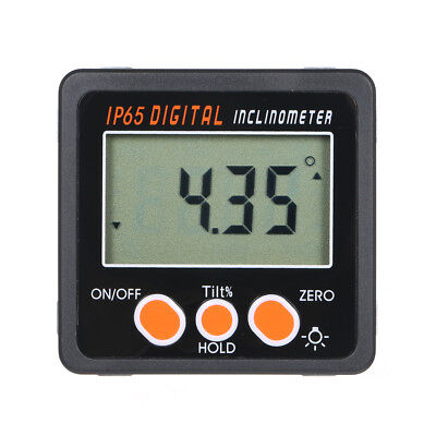 Digital Inclinometer Level Box Protractor Angle Finder Meter Magnet Base F4W1