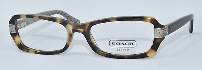 9e45e357163 New Authentic Coach Eyeglasses Hc6005 5047 Marjorie Spotty Tortoise  51-17-135