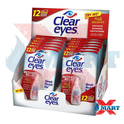 12 Pack Clear Eyes Redness Relief Eye Drops - 0.2 oz Last up to 12 Hours