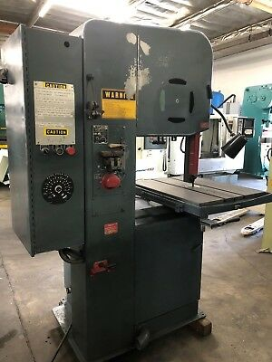 "Doall 20"" Vertical Band Saw Variable Speed With Welder Model 2012-2A"